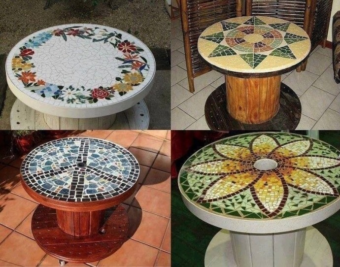 Creative Use of Recycled Pallet Cable Spools