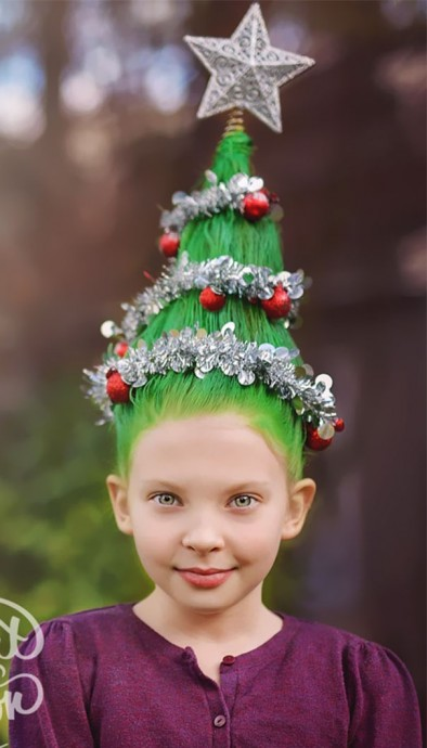 40 Most Creative Christmas Hairstyles Ever